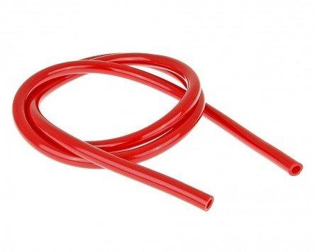 Benzinschlauch farbig 1 Meter d=5mm rot