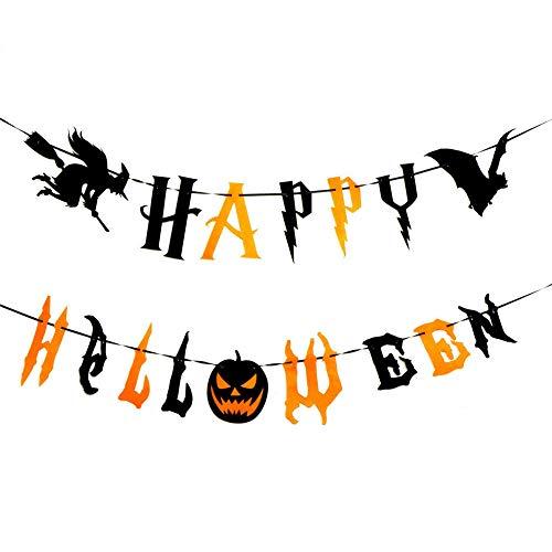 SpringPear 2X 3 Meter Horror Halloween Banner aus Vliesstoff Girlande Deko Party Dekoration