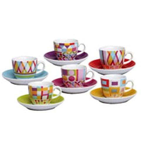 Tognana Iris Policromia Emballage de 6 Tasses à café avec