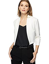 Debenhams Red Herring Womens White Scuba Cropped Jacket