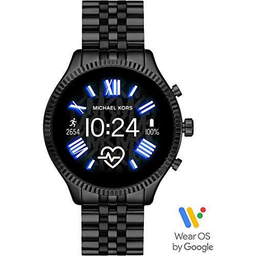 Michael Kors Gen 5 Lexington smartwatch para Mujer con Caja y Correa de Acero Inoxidable Negro MKT5096...