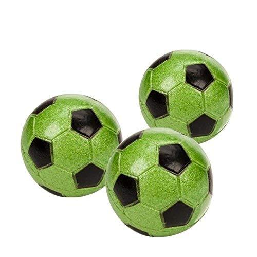 Star Kicker Flummi, Fussball grün, ca. Ø 45mm 3er Set - daydayversand