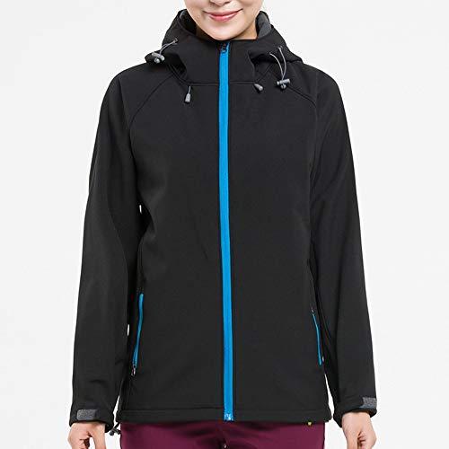 SANFASHION Damen Jacke Softshelljacke Übergangsjacke Outdoor Winddichte Wasserabweisend F