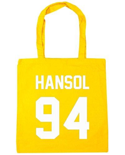 hippowarehouse-hansol-94-impreso-en-el-bolsa-de-la-compra-bolsa-de-playa-negro-42-cm-x38-cm-10-litro