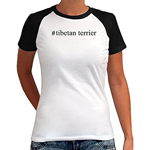 Maglietta Raglan da Donna #Tibetan Terrier Hashtag