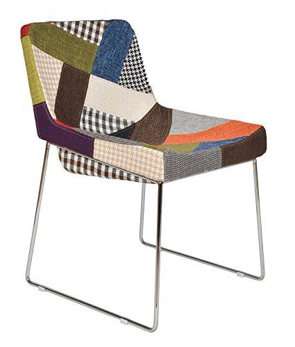 ts-ideen 1x Design Patchwork Sessel Wohnzimmer Küchen Büro Stuhl Esszimmer Sitz bunt vielfarbiger...