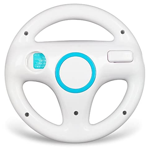 BLANC Volant SPORT STEERING WHEEL PouR NINTENDO Wii MARIO KART RACING CONSOLE wheel - Wii Che Corre Gioco Volante