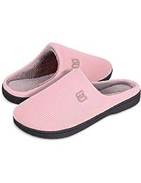 Damen Herren Hausschuhe aus Memory-Baumwolle Drinnen Pantoffeln im Herbst  und Winter für Drinnen und 3f4f6e9685