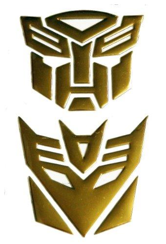 SKS Distribution® Transformers Autobot und Decepticon GOLD 3D-Auto-Emblem-Abzeichen-Aufkleber Aufkleber