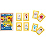 Prism Edutives Fabler Junior A Picture Based Story Building Card Game (Yellow and Blue)