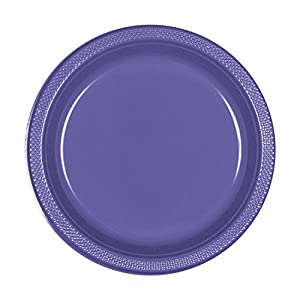 Amscan International Amscan 552285-106 - Plato de plástico (22,8 cm, 10 unidades), color morado