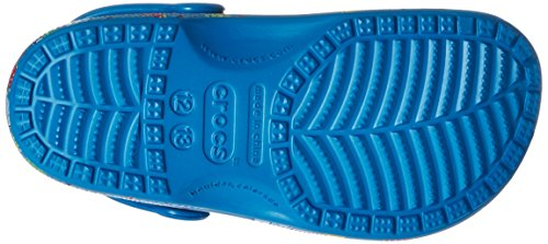 Crocs Classic Summer Fun, Sabots mixte enfant bleu (ultramarine)