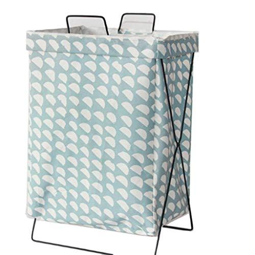 Tela de algodón Arte Marco de Hierro Plegable Canasta de lavandería Cesta de Almacenamiento de Ropa Sucia Cesta de Ropa de Juguete a Prueba de Agua (Color : A)