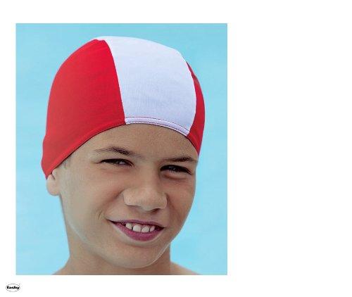 Preisvergleich Produktbild Fashy 3236 Stoffhaube (Badekappe für Kinder mit max. ca. 50/52 cm Kopfumpf.) - rot/weiß