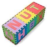UMOI Hochwertig BPA-Frei Puzzlematte 36 Spielmatten mit Buchstaben und Zahlen von A-Z 0-9 Kinder-Spielteppich kälteisolierend Schaumstoffmatte Schall-Dämmung Spielpolster gegen kalte Böden
