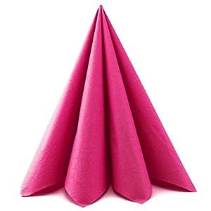 Deko Angels Servietten Papierservietten 40 x 40 cm Tissue 3-Lagig Tischdeko Hochzeit Hellblau Mundservietten Zum Falten von FINEMARK