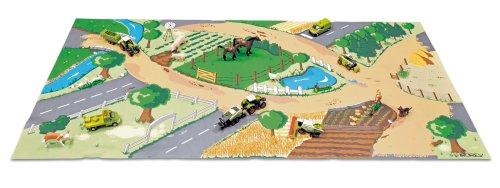 norev-t23100-vhicule-miniature-tapis-de-jeu-farmer-1-tracteur-minijet-1-remorque-minijet-110-x-55-cm