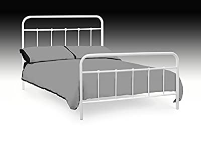 4ft6 Double Premier White Metal Bed Frame New Stock Just Arrived Web Offer