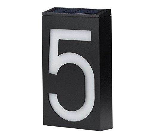 Fünf Licht Wandleuchte Strip (Zantec Solarbetriebene Hausnummer Doorplate Lampe 6 LED Lichtbetriebene Wandleuchte Sign Lampe)