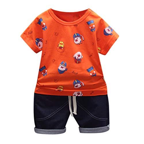 JUTOO 2 Stücke Set Kleinkind Baby Mädchen Jungen Schwein Print T-Shirt Tops + Shorts Hosen Outfits Kleidung Set ()