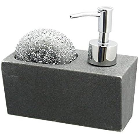 Generic qy-uk4–16Feb-20–2796* 1* * 4809* * Dispensador, porary acabado jabón contemp moderno piedra Inish S Bomba gris MP gris resina jabón en dispensador de jabón