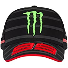 Jorge Lorenzo 99 Moto GP Monster Energy Rayas Baseball Gorra Oficial 2018 0d68674e415