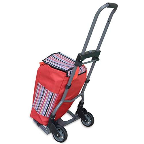 Auto tragbare Bügeleisen Gepäckwagen ziehen Waren Trolley Home Lebensmittelgeschäft einkaufen Laden kleine kleine Wagen Anhänger (Farbe : JNS-N2)