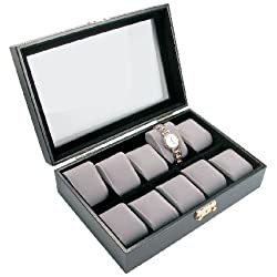 Deluxe Watch Case for 10 Watches - BD220