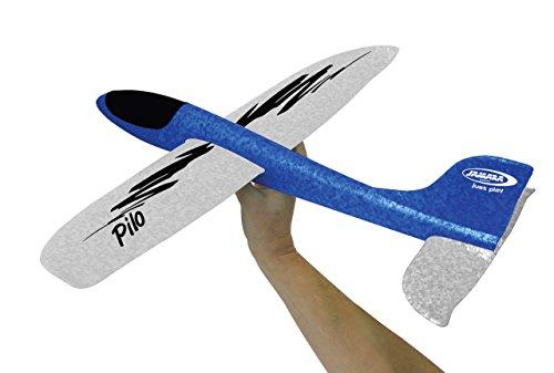 Jamara 460306 Pilo Schaumwurfgleiter EPP Blau/Weiß - 48cm Spannweite, Super leicht, Fast Unzerstörbar, Looping, Gleitflug