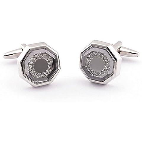 Gudeke Rhinestone Gem Faux Diamonds Glass Crystal Cufflinks Los diamantes de imitación de cristal gema del Rhinestone Cristal Gemelos