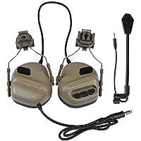 Huenco Auriculares tácticos Caza Airsoft Casco Reducción de Ruido Auriculares Tiro Militar Protección auditiva Auriculares de Radio