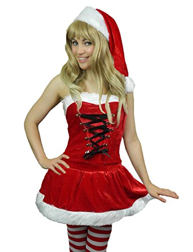 Yummy Bee - Frau Weihnachtsmann Santa Karneval Fasching Kostüm Damen Hut Größe 36-40 (36-38) (Frau Bee Kostüm)