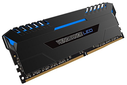 Get Corsair CMU16GX4M2A2666C16B Vengeance LED 16GB (2x8GB) DDR4 2666MHz C16 XMP 2.0 Enthusiast LED Illuminated Memory Kit – Black with Blue LED Lighting on Line