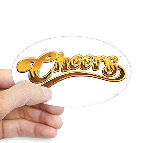 CafePress-Cheers Logo Aufkleber (Oval)-Aufkleber (Oval), Weiß, Large - 4.5x7.5 (Cheers Logo)