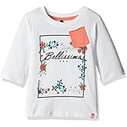 United Colors of Benetton Girls' T-Shirt (16A3094C0102I074XL_Off White_XL)