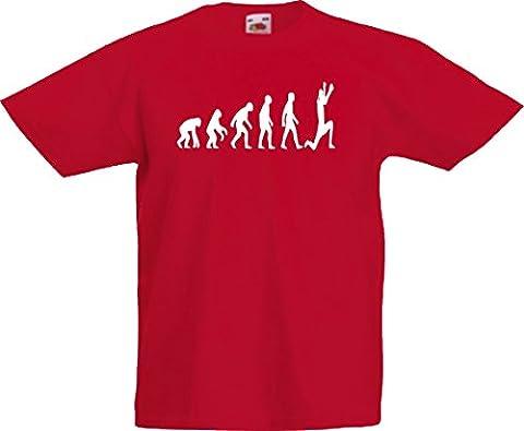 Evolution of man muay thai kids childrens t-shirt 3-13 years 419 - Red - 7/8 years