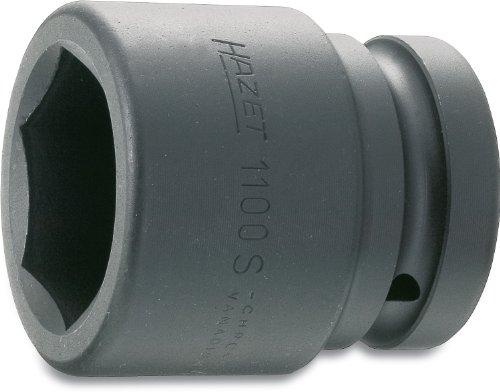 Hazet Douille Chocs 1100S-32 ∙ Carré Creux 25 mm (1 Pouce) ∙ Profil à 6 pans extérieurs ∙ Taille: 32 ∙ Longueur : 63 mm, Multicolore, 32 mm (Schlüsselweite)