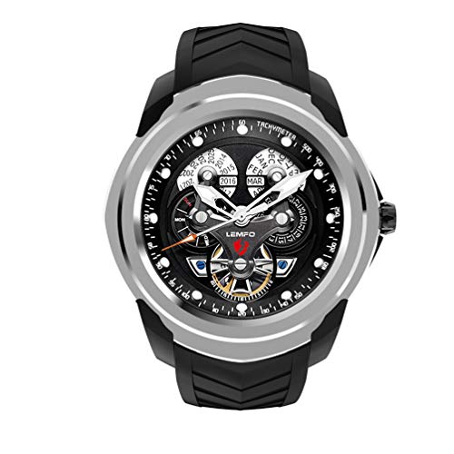 YWYU Smart Watch LEMFO LF17 Android 5.1 Smart Watch 512 MB + 4 GB Supporto Fino a 32GB Card TF Monitor della frequenza cardiaca Smartwatch Bluetooth Bracciale Orologi Sport Watch per iOS Android