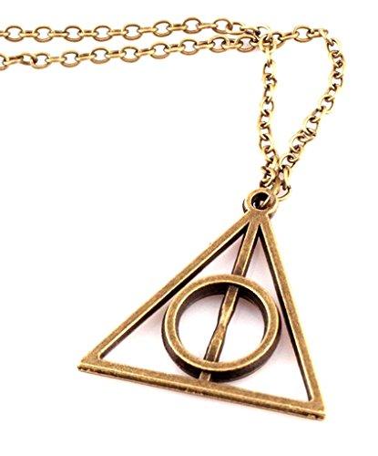 Halskette Anhänger Dreieck Heiligtümer des Todes Deathly Hallows Ton Silber Cosplay
