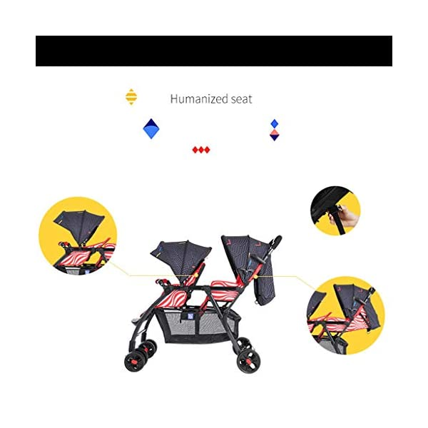 Pushchairs Prams Lightweight Double Stroller, Foldable Reflective Five-point Seat Belt Brake Damping Design Adjustable Twin Stroller Baby Pushchairs (Color : Red) LOFAMI-Pushchairs ★ The stroller is an essential tool for the baby to travel, so that the baby can sit or lie inside, and the parents can push the car to walk, The baby stroller can let the baby rest and play in addition to the baby. ★ Pushchairs Strollers Toddlers Prams Travel Girls Car Seat Baby Cover Pink Lightweight Wheels Organizer Buggies Boys Pram Trolleys Raincover Twins Blue System Reclines Combo Fold Tricycles Toys Carrier Set Holder High Bassinet Adjustable Black Newborns Plastic Visor Carriage Airplane Awning Safety Base Basket Compact Single Luxury Pushchair Kids' Trikes Landscape Portable Large Storage Height Children Folding Parasol Sunshade Clips Liner Babies Universal Rain Grey Clip White Green. Lightweight double stroller for easy access to elevators, subway gates, etc., weighing only 8.9kg, small size and space saving. 5