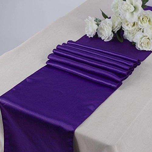 Eds Pack Of 10 Wedding 12 X 108 Inch Satin Table Runner For Wedding Banquet  Decor  Cadbury Purple Part 85