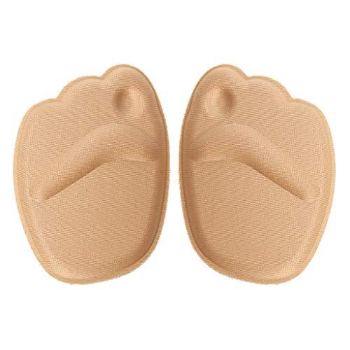 Rryilong - Pies delanteros, tacón alto, espuma 4D, elástica, suave, antideslizante, alivio del dolor de pies, protección plantar