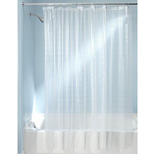 InterDesign 29780EU Ikat Duschvorhang, 178 x 183 cm, frost Badezimmer-teppiche Interdesign