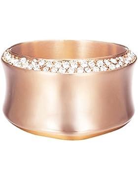 Esprit Damen-Ring Crystal curve Edelstahl 39 Glasstein (rosé)