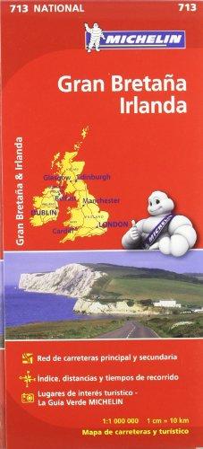 Mapa National Gran Bretaña Irlanda (Mapas National Michelin) por Vv.Aa