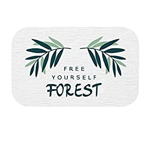 ACVIP Tropical Palm Leaves Printed Diatomite Absorbent Soap Dish Tooth Glass Holder Non-Slip Drink Coaster (Color 7)
