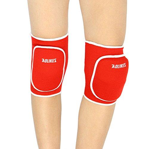 Liying Neu Knieschoner Kniebandage Knieschützer Schoner Proteckor Indoor für Kinder Rot (Boxer Stricken)