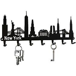 Ganci portachiavi -- Skyline New York -- Pannello portachiavi