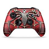 Manette sans Fil Xbox One S Pro Console - Nouvelle Manette Xbox Bluetooth avec Prise en Main Douce et Skin Exclusive Version personnalisée (Spiderman Rouge)