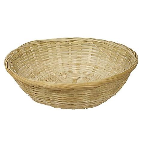 FloristryWarehouse Round Handmade Wicker Fruit Baskets 14 inch/35cm Diameter (Pack